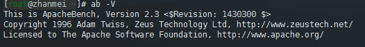 Apache Bench安装指令